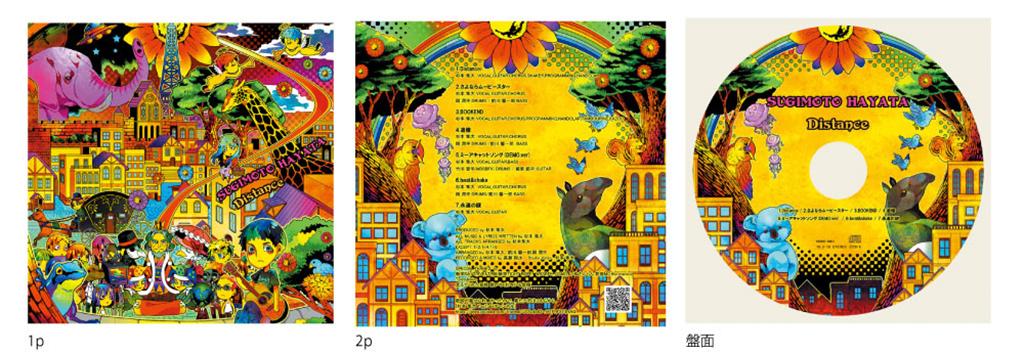 Distanceの細かいイラストがかわいいスリムケースプレス バンド専門cd